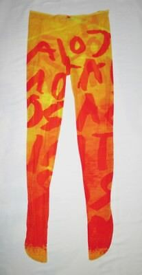 Stephen Sprouse Spring 1985 Rock on Mars graffiti tights 1980s