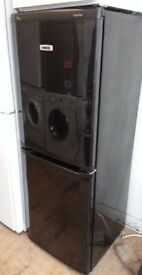 Black Beko frost free Fridge freezer 5 foot high 55cm