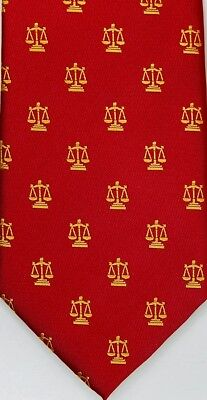 Attorney Lawyer Ties with Scales of Justice 100% Silk Attorney Legal Ties