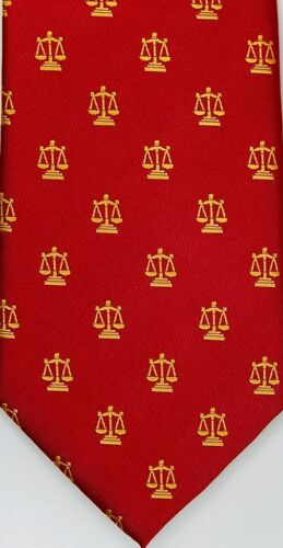 Lawyer Ties with Scales of Justice 100% Silk Attorney Legal Ties