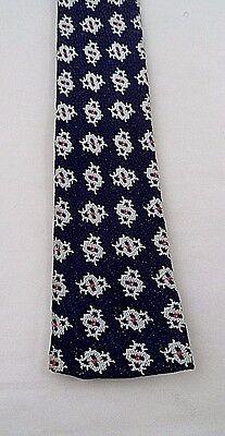 1960s – 70s Men's Ties | Skinny Ties, Slim Ties EUC 1960s Short Straight Skinny Square Necktie Tie w/Retro Space Invaders Design $11.66 AT vintagedancer.com