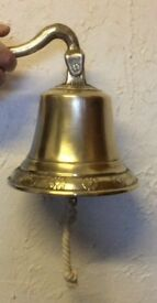 Large Brass Pub Bell - Home Bar - Etc