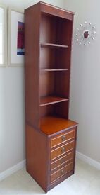 Beresford and Hicks Narrow Bookcase/Display/Storage Unit - High Quality