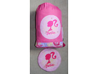 "Girls Barbie pink polyester sleeping bag & case, bag size 182 x 66cm (56 x 26"")"
