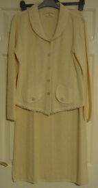 Ecology Cotton Women's Skirt and Jacket Suit Natural Undyed Beige Size 8