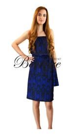 Black & blue aztec print midi maxi dress £5