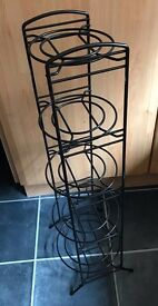 Coated metal 5 tier pan stand - excellent condition