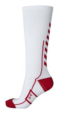 Hummel Tech Indoor Socks High Socken lang weiß-rot NEU 69492
