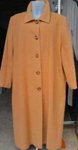 Oakville New XL 18 20 Cashmere Wool Long Coat Made in Canada ~ Jacket Camel brown Caramel Carmel Lisa