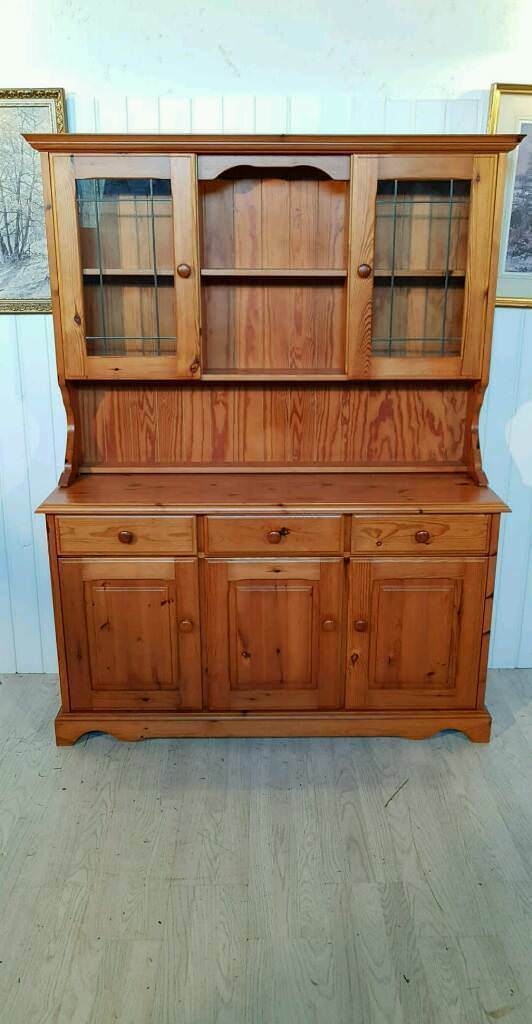 Solid pine welsh dresser with glass doors nr2 in muirhouse solid pine welsh dresser with glass doors nr2 planetlyrics Gallery