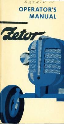 Zetor 2011 3011 4011 Operators Manual