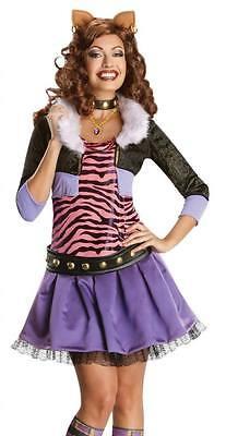 Erwachsener Reiz Damen Clawdeen Wolf Monster High Kostüm Geheim Wünsche ()