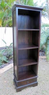 1 Drawer Wooden Bookcase/BookShelf Mahogany