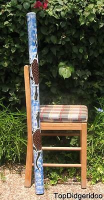 "47""120cm DIDGERIDOO Native Aboriginal Hand Paint Art + Bag + Beeswax Mouthpiece"