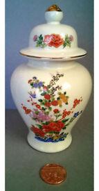 ceramic floral ginger jar