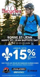 VENTE DE ST-JEAN (jusqu'à 15% de rabais) / ST-JEAN SALE (up to 15% off)