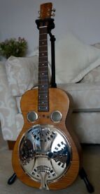 Dobro Hound Dog Round Neck Resonator Acoustic Electric Guitar