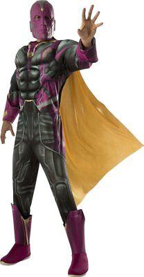 Herren Erwachsene Vision Marvel Avengers 2 Age Of Ultron Luxus - Vision Marvel Kostüm