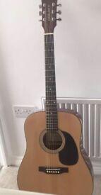 Legacy Acoustic Guitar, case, picks & tuner