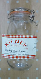 Large glass food storage container