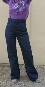 PANTS-USN-ISSUE-BELL-BOTTOMS-DENIM-DUNGAREES-SIZE-30X38-UNHEMMED-NEW-VINTAGE