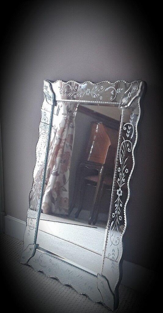 Handmade Laura Ashley Venetian Glass Mirror In Brora