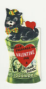 Vintage Valentine Card Cat