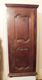 Antique French Tall Corner Cupboard probably dating from the nineteenth century