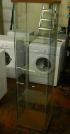 Proffessional Glass Display Unit Ideal for collectables, Jewellery or shop cakes ect. 162 x 43 x 37
