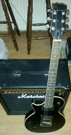 Guitar Left Handed electric with soft case for sale