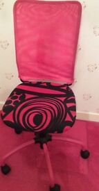 Pink and Black Desk Chair