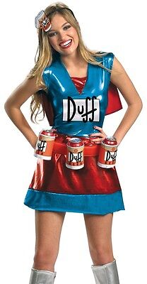 Duffwoman Costume Sexy Simpsons Female Duffman Duff Woman Beer - Sm, Med, Large