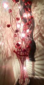 Beautiful red glittery floor lamp