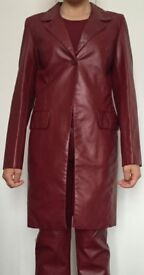 Beautiful faux leather snake skin affect trouser and jacket suit