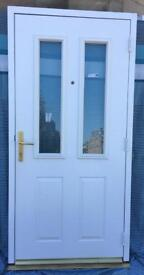 Super White Composite DISABLED ACCESS Door 2 tough glass panels Opens outwards