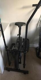 Exercise cross trainer bike