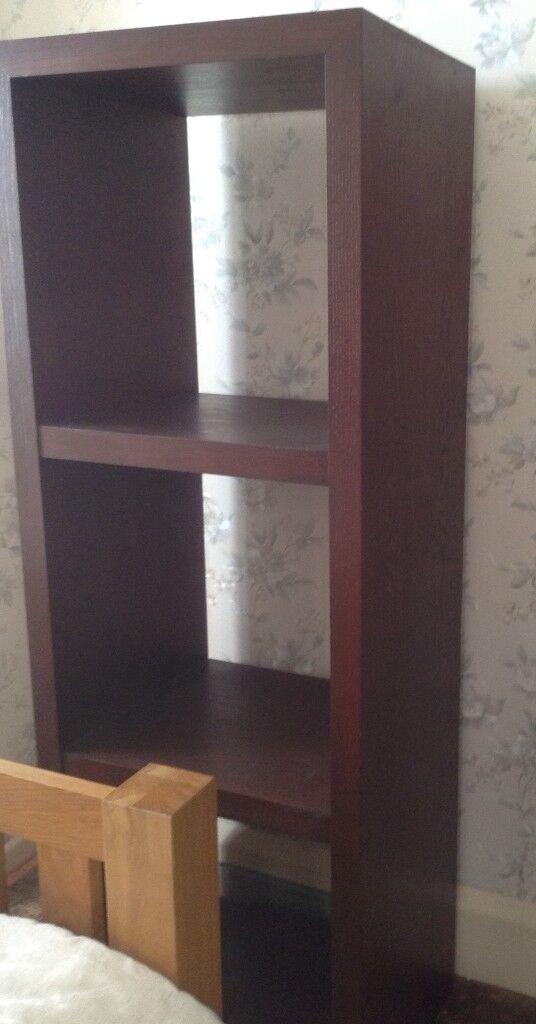 Multiyork solid dark wood cube shelving / shelf