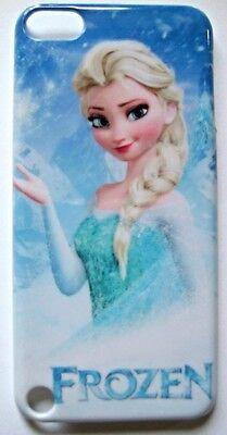Frozen Elsa Pattern Blue Apple iPod Touch 5 5th Hard Case Cover -US SELLER