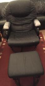 Rotating 360 degree Rocking chair & footstool