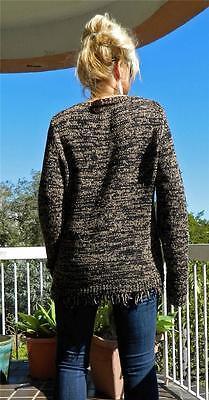80s Sweatshirts, Sweaters, Vests | Women VINTAGE Boho 1980s Original Harry Potter Crochet Fringing Knit Retro Sweater $25.99 AT vintagedancer.com