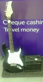 Power play electric guitar and amp