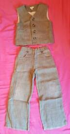 boys waistcoat and trousers aged 4 to 6