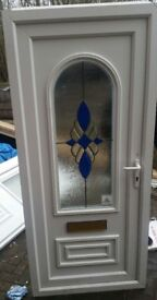 UPVC White Door VGC 900x2030 Delivery available- ask