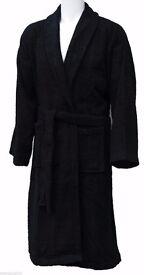 black bathrobe size large