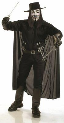 Cat Costume Men (Mens Adult Guy Fawkes Deluxe V FOR VENDETTA)