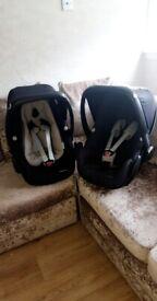 2 maxi cosi pebble plus car seats