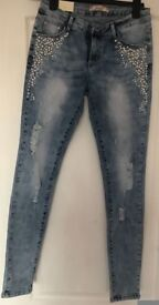 Blue Ripped Jeans, UK 12