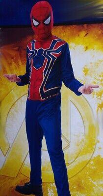 Boys IRON SPIDER Halloween Costume Mask Avengers Infinity War Purim S M L NEW