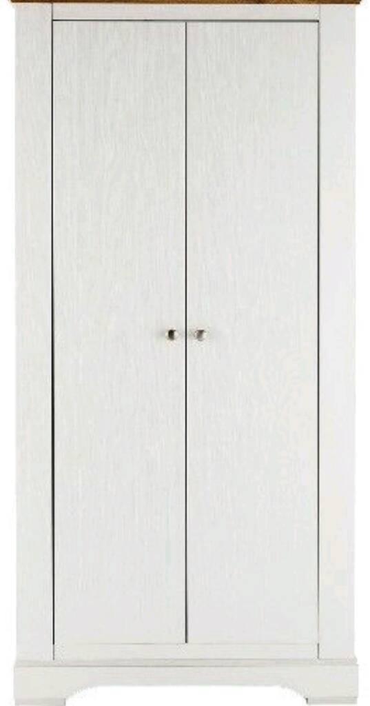 Wiltshire 2 Door Wardrobe - Height 181, Width 80, Depth 56.8 cm - WHITE/OAK