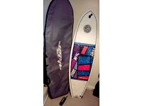 6'3 Fish Surfboard (INCLUDES: Board bag, Leash, & fins) Used only twice! £250